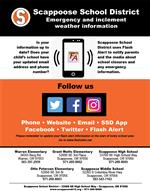 Emergency and inclement weather information